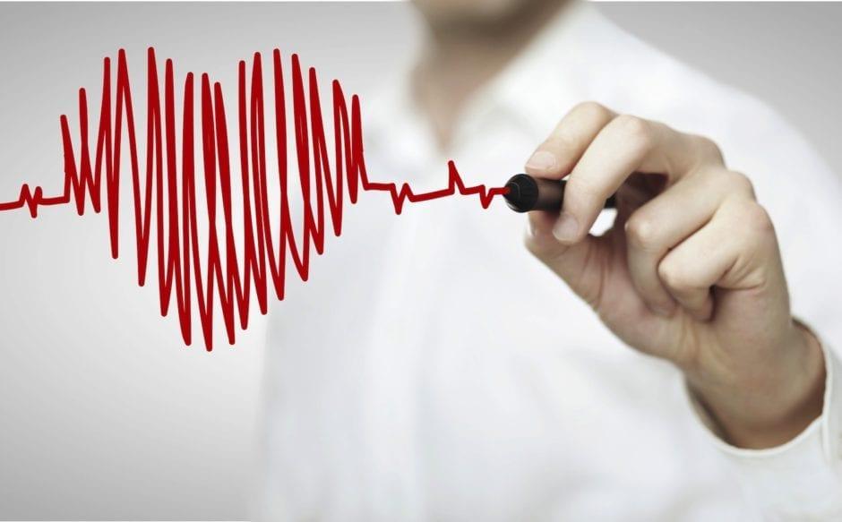 heartbeat like an AKG made with a marker